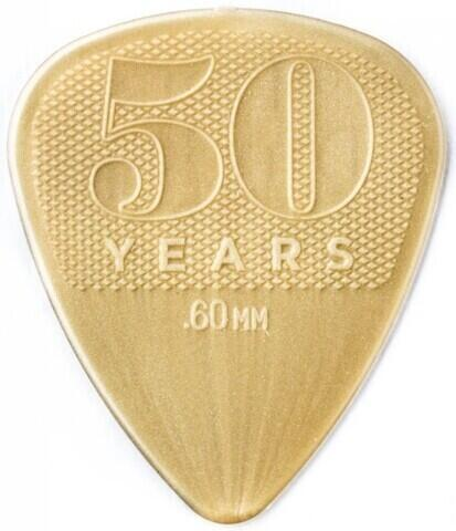 Dunlop 442R60 50th Anniversary Gold Nylon Pick, 0.60