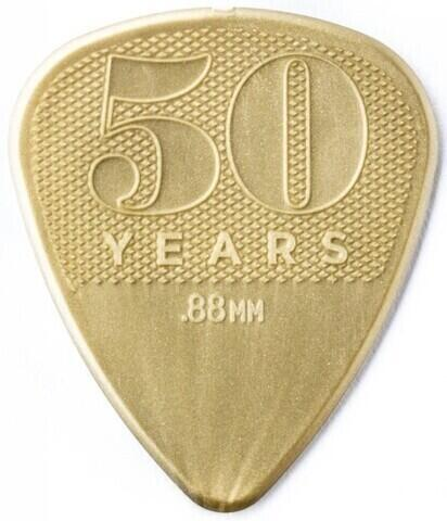 Dunlop 442R88 50th Anniversary Gold Nylon Pick, 0.88