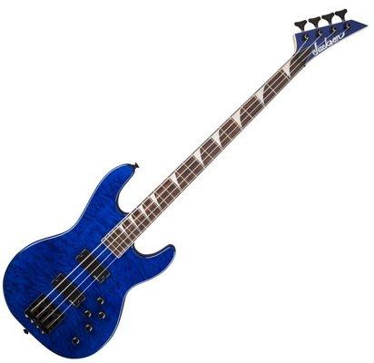 Jackson JS3QM Concert Bass Transparent Blue