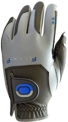 Zoom Gloves Weather Mens Golf Glove Charcoal/Silver/Blue Left Hand for Right Handed Golfers