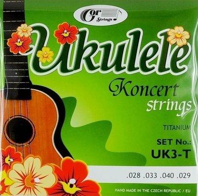 Gorstrings UK3-T Ukulele Koncert Titanium Strings