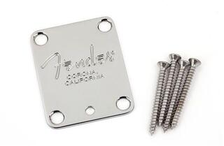 Fender 4-Bolt American Series Guitar Neck Plate Chrome
