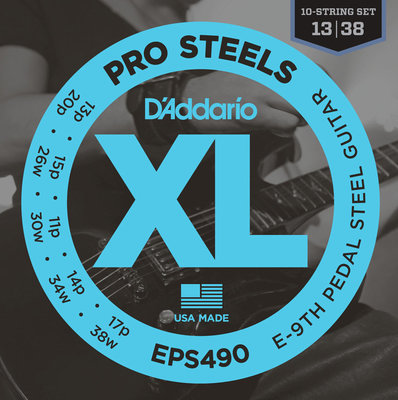 D'Addario EPS 490 Pedal Steel Strings, E-9th