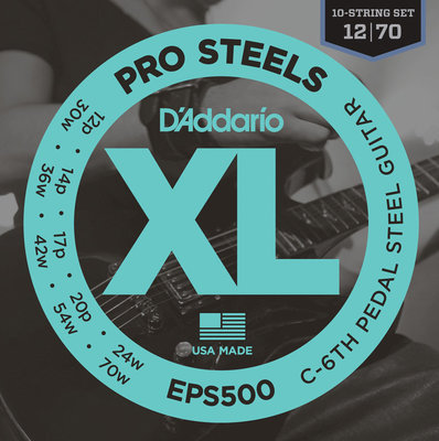 D'Addario EPS 500 Pedal Steel Strings, C-6th
