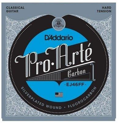 D'Addario EJ46FF Pro-Arte Carbon, Dynacore Basses, Hard Tension