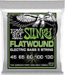 Ernie Ball 2816 Flatwound Cobalt Regular Slinky 5 String