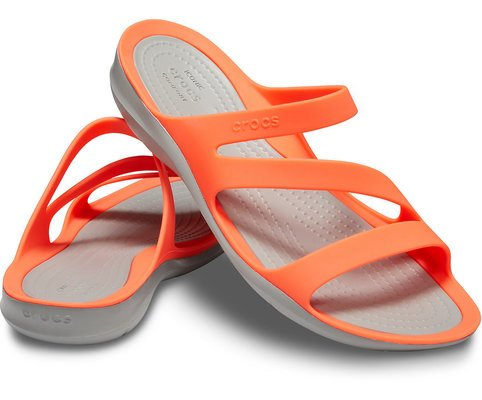 Crocs Women's Swiftwater Sandal Bright Coral/Light Grey 41-42