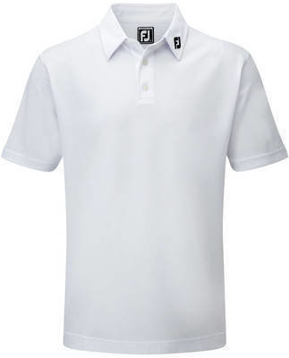 Footjoy Stretch Pique Solid Mens Polo Shirt White XXL