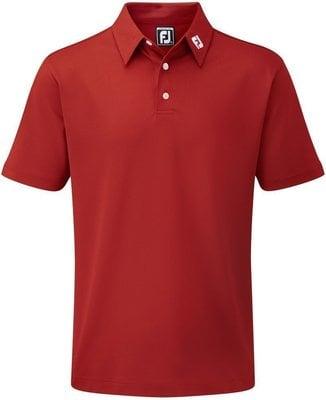 Footjoy Stretch Pique Solid Mens Polo Shirt Red M