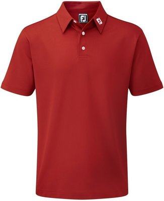 Footjoy Stretch Pique Solid Mens Polo Shirt Red L