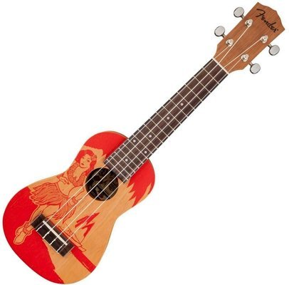 Fender Piha'ea Soprano Ukulele Hula Screen