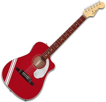 Fender FSR Malibu Mustang Candy Apple Red RS