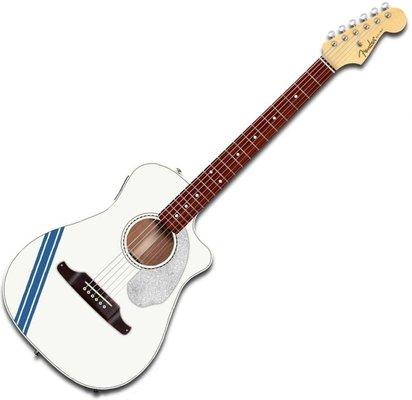 Fender FSR Malibu Mustang Olympic White RS
