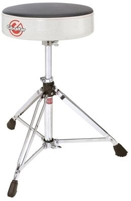 Gibraltar 6608RSW Double Braced Round Drum Throne White Sparkle