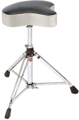 Gibraltar 6608MSW Drum Throne Saddle White Sparkle