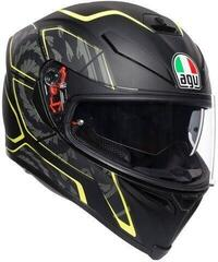 AGV K-5 S Multi Tornado Matt Black/Yellow Fluo L