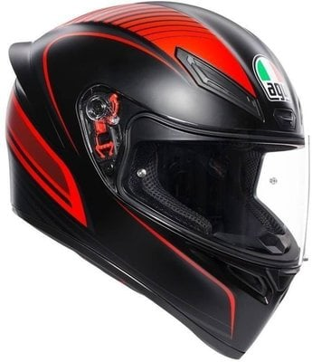 AGV K1 Multi Warmup Matt Black/Red XL
