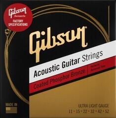 Gibson Coated Phosphor Bronze Acoustic Guitar Strings Ultra Light