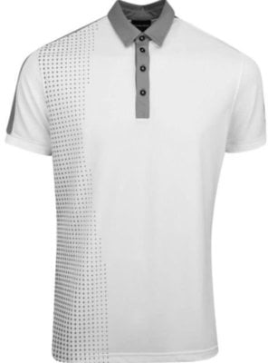 Galvin Green Moe Ventil8 Polo Golf Uomo White/Sharkskin XL