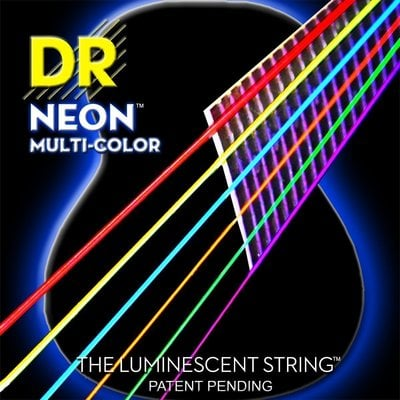 DR Strings NMCA 10 Neon Multi-Color K3 Coated