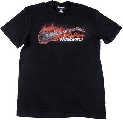 Jackson Red Crackle Tee Black L