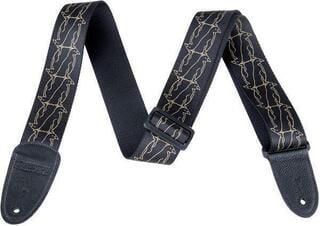 Gretsch Strap Double Penguin Black/Gold