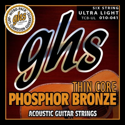 GHS Thin Core Phosphor Bronze Acoustic String Set .010-.041