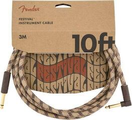 Fender Festival Series Instrument Cable Кафяв/Плетен-Директен - Ъглов