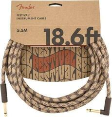 Fender Festival Series 18.6' Angled Cable Pure Hemp Brown Stripe