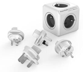 PowerCube ReWirable + Travel Plugs Grey
