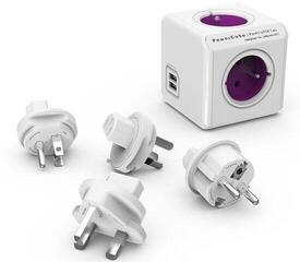 PowerCube ReWirable USB + Travel Plugs Purple