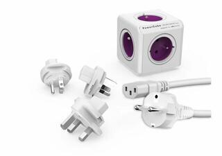 PowerCube ReWirable + Travel Plugs + IEC Purple
