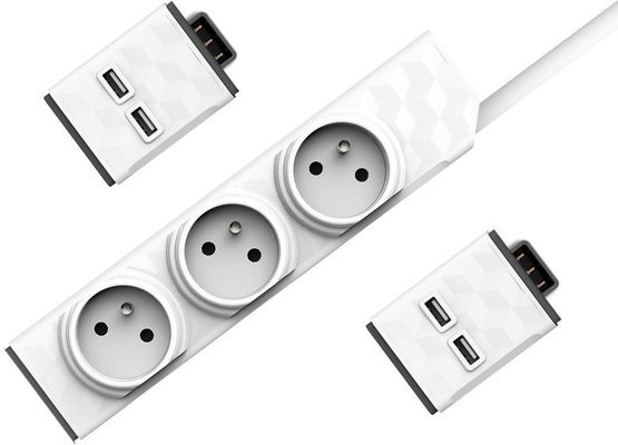 PowerCube PowerStrip Modular 3M Cable + 2x USB Modul