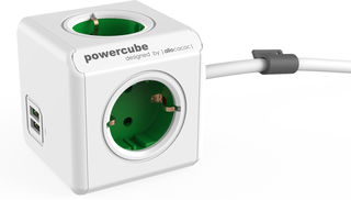 PowerCube Extended USB Green Schuko