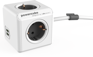 PowerCube Extended USB Grey Schuko