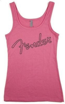 Fender Ladies Tank Top Pink Small