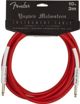 Fender Yngwie Malmsteen Instrument Cable 10'' Red