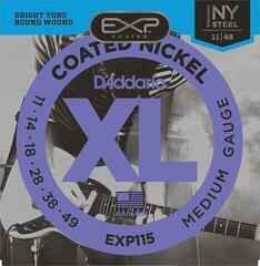 D'Addario EXP-115 Coated Blues Jazz Rock Regular Strings