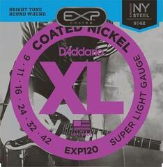 D'Addario EXP-120 Coated Nickel Round Wound Super Light