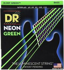 DR Strings DR Neon Green Bass 5 String Medium