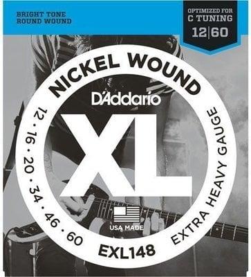 D'Addario EXL148 Nickel Wound Extra-Heavy 12-60