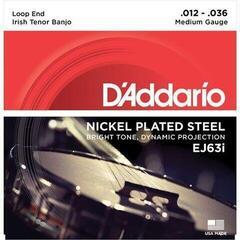 D'Addario Irish Tenor Banjo Strings Nickel 12-36