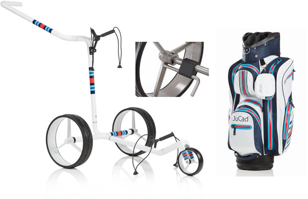 Jucad Carbon 3-Wheel Racing White Deluxe SET