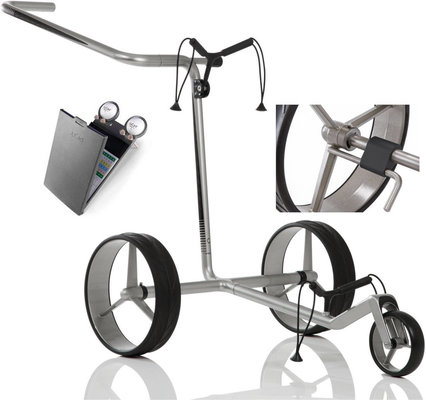 Jucad Carbon 3-Wheel Silver/Black Deluxe SET