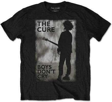 The Cure Unisex Tee: Boys Don't Cry Black & White S