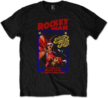 Elton John Unisex Tee: Rocketman Feather Suit M