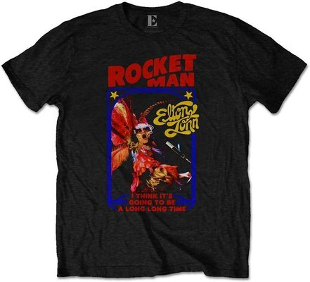 Elton John Unisex Tee: Rocketman Feather Suit L
