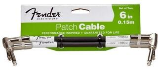 Fender Performance Series Patch Cable 15 cm Black Two-Pack