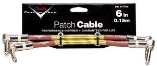 Fender Custom Shop Performance Patch Cable 15 cm Tweed Two-Pack