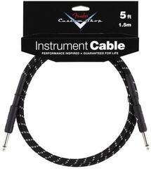 Fender Custom Shop Performance Cable Čierna/Opletený-Rovný - Rovný